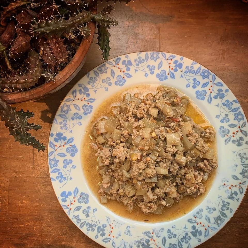 根菜のポークキーマカレー
