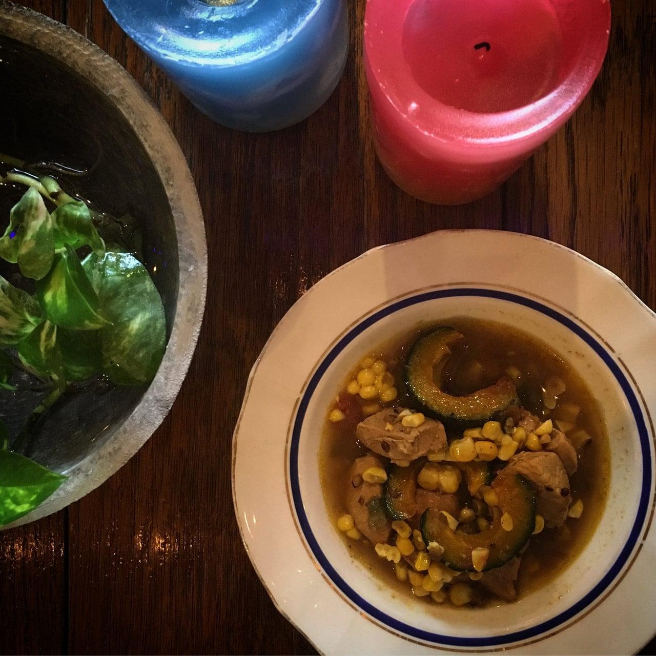 トウモロコシと南瓜のチキンカレー